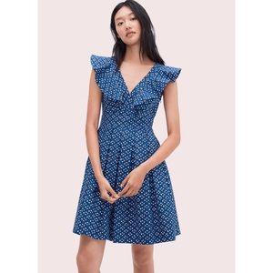 Kate Spade Geo dot poplin mini dress